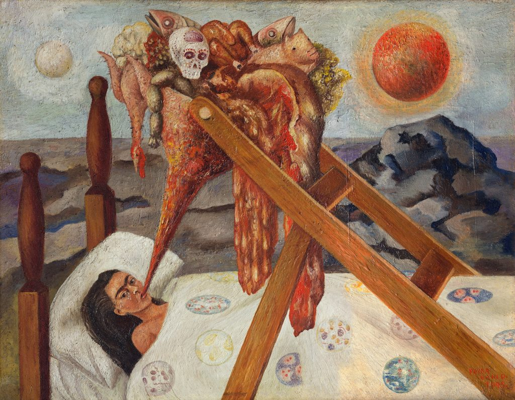 Frida Kahlo, <em>Without Hope</eM> (1945). Photo by akg-images, Museo Dolores Olmedo, Mexico City, Xochimilco, ©Banco de Mexico Diego Rivera Frida Kahlo Museums Trust/VG Bild-Kunst, Bonn 2021; reproduction authorized by the Instituto Nacional de Bellas Artes y Literatura, 2021.