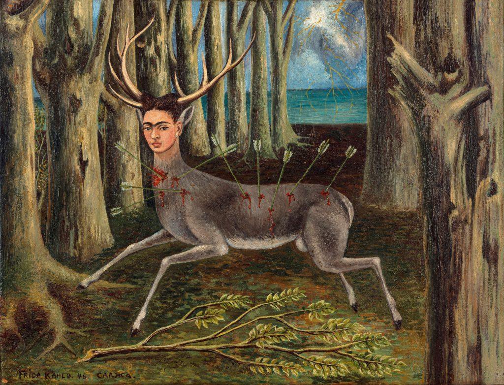 Frida Kahlo, <em>The Little Deer</em> (1946). Photo by Fine Art Images, Bridgeman Images, ©Banco de Mexico Diego Rivera Frida Kahlo Museums Trust/VG Bild-Kunst, Bonn 2021; reproduction authorized by the Instituto Nacional de Bellas Artes y Literatura, 2021.