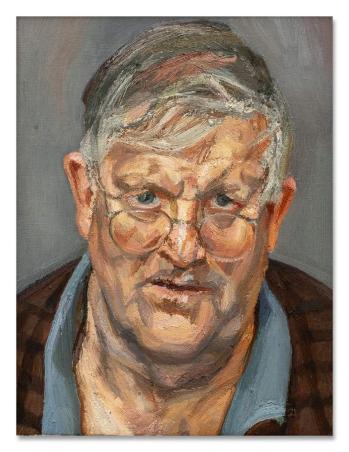 Lucian Freud,David Hockney(2002). Courtesy of Sotheby's.