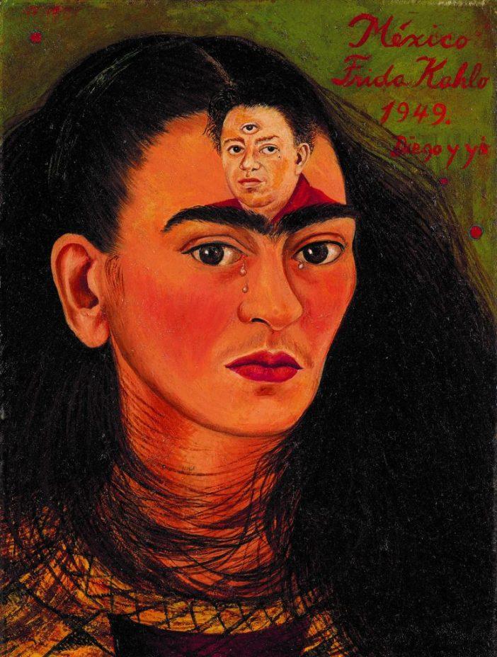 Frida Kahlo, Diego y yo (1949). Cortesia Sotheby's
