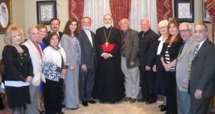 His grace bishop Mar Awa Royel receives the Assyrian national council of Stanislaus.