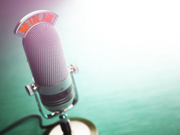 microphone live on the air
