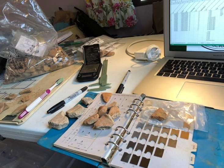 Pottery sherd analysis