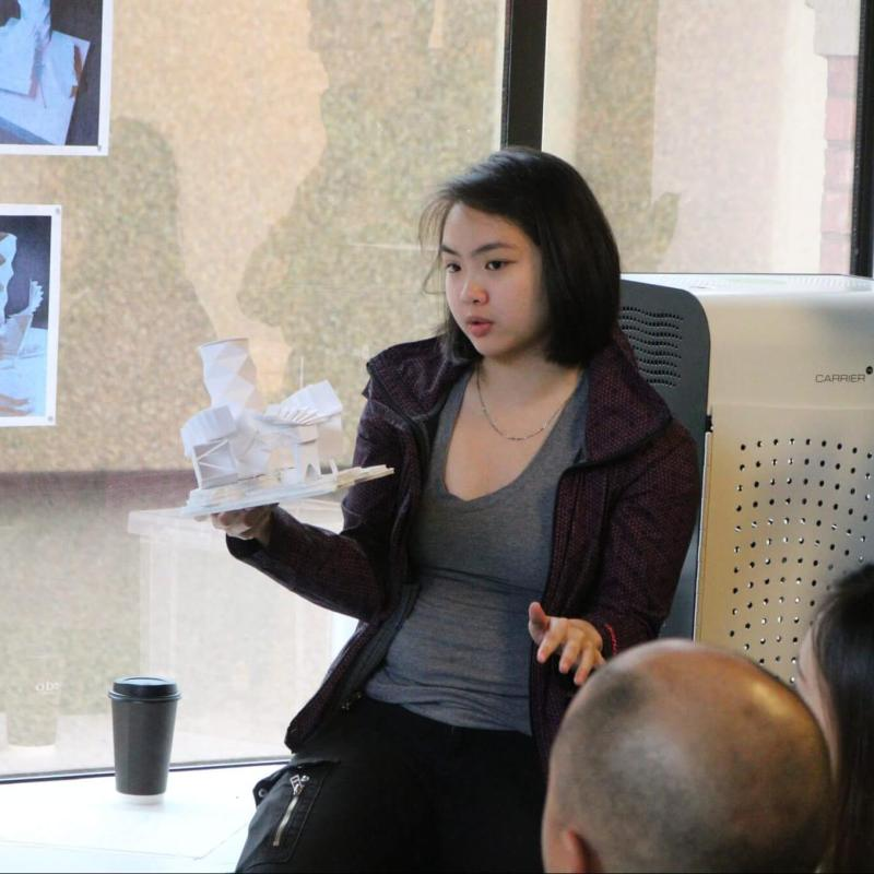 High-school students who took the dual-credit Architecture Design Studio (ADST) 200 course with AU presented 3-D models of their designs for their final project.