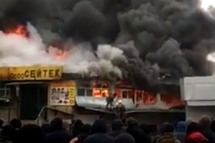 Пожар Ошский рынок