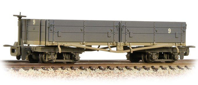 NEW 2019 Bachmann OO9 Open Bogie Wagon Nocton Estates L. R. Grey - weathered (393-051A)