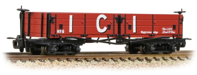 NEW 2019 Bachmann OO9 Open Bogie Wagon 'ICI' Red (393-056)