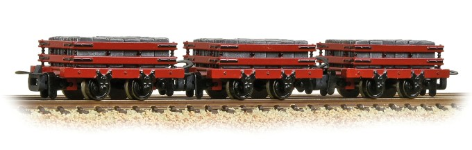 NEW 2019 Bachmann OO9 Slate Wagons 3-Pack Red with Slate Load (393-076)