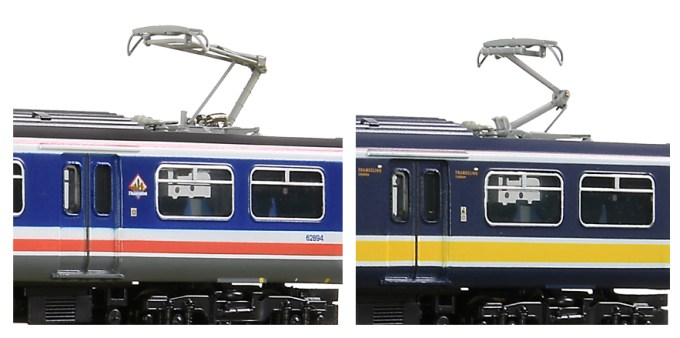 The all new models from Graham Farish come with two styles of pantograph, Sprung Stone Faiveley pantograph and the Sprung Brecknell Willis pantograph