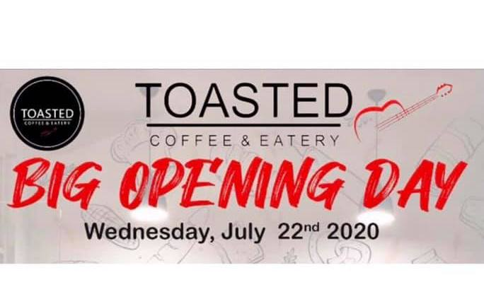 Toasted Coffee Eatery opening day with free food and cocktails on July 22 2020 from 6 PM at Jl Batu Mejan No 50 in Canggu .