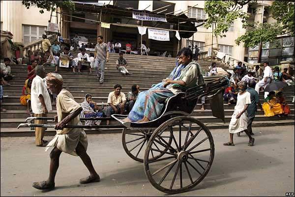 Calcuta es una de las últimas ciudades en prohibir este medio de transporte.