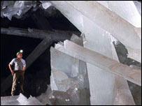 La Cueva de los Cristales tiene una profundidad de 290 metros. Foto: Javier Trueba / Geology.