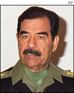 الرئيس العراقي صدام حسين