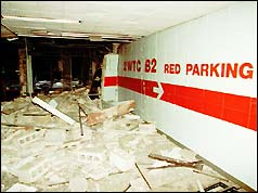 World Trade Center car park after bomb