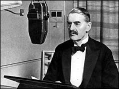 Neville Chamberlain in recording studio