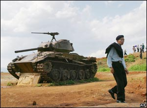 A french tank at Dien Bien Phu