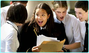 Pupils celebrate exam results