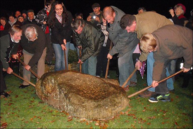 BBC - Devon - Village won't leave stone unturned