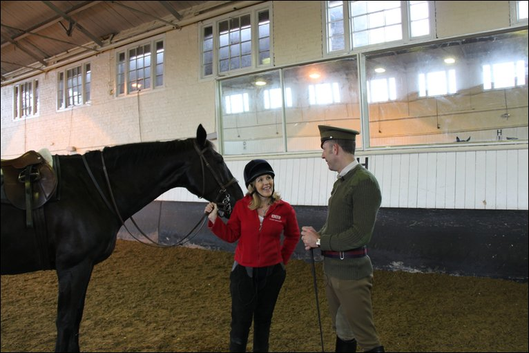 BBC Maggie Philbin Meets The Household Cavalry In Windsor