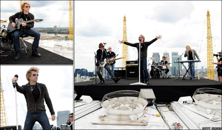Bon Jovi on the roof of the O2