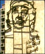 Image of Che Guevara on the Cuban Ministry of Defence