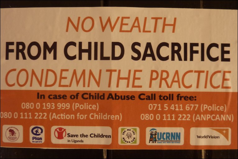 Poster campaigning against child sacrifice