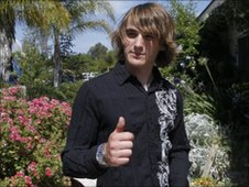 Zac Sunderland outside the family home in California on 10/6/2010