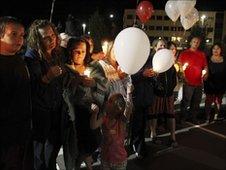 Vigil outside Draper prison, Utah, 18 June