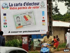 Poster for the presidential elections on June 27 in Conakry