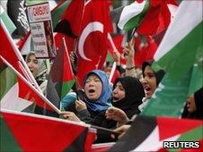 Pro-Palestinian protests in Ankara, 6 June 2010