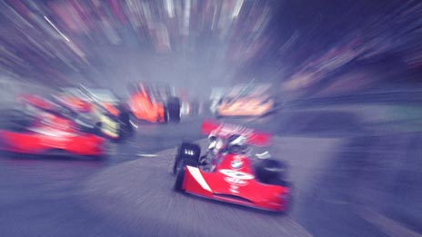 Some racing cars