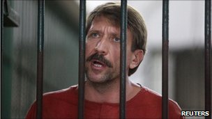 Viktor Bout at the Criminal Court in Bangkok on 20 August 2010
