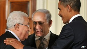 Abbas, Netanyahu and Obama