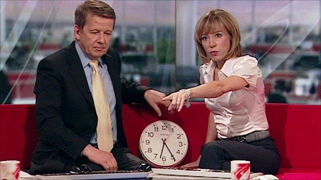 sian williams and bill turnbull clock nuclear war news BBC breakfast