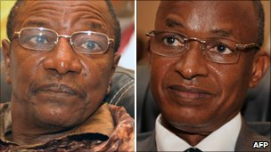Alpha Conde (l), Cellou Dalein Diallo