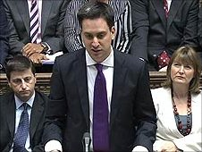 Ed Miliband at his debut PM's questions