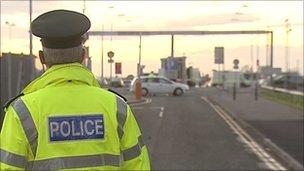 Policeman at airport