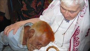 Dr Pfau and  Bundu Sheikh