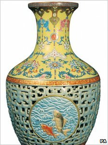 The auctioned vase