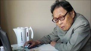 Dr Gao Yaojie in her flat in New York