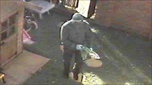Gunman entering Mr Deakin's home