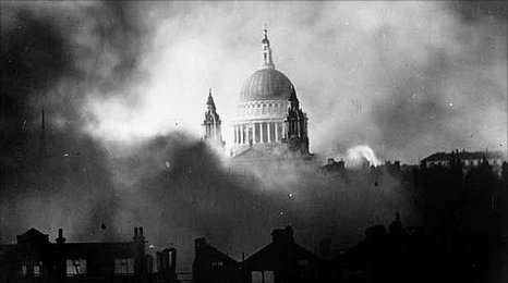 St Paul's Cathedral in the Blitz, London 1940