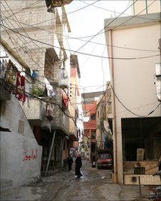 Palestinian refugee camp in southern Lebanon