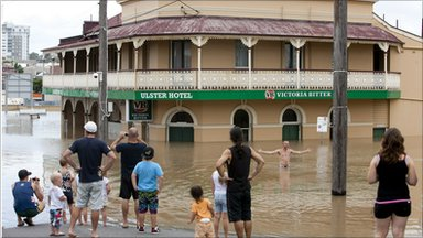 Flooded hotel in Ipswich, Australia (12 January 2011)