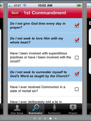 Confession app screenshot