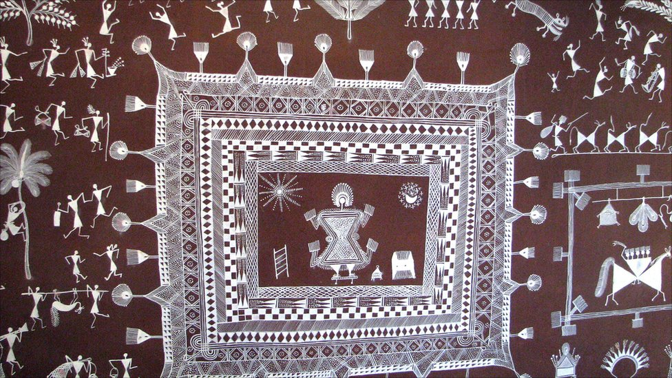 BBC News In Pictures Ancient Warli Art Flourishes In Rural India