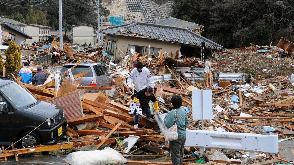 Rubble in Iwaki