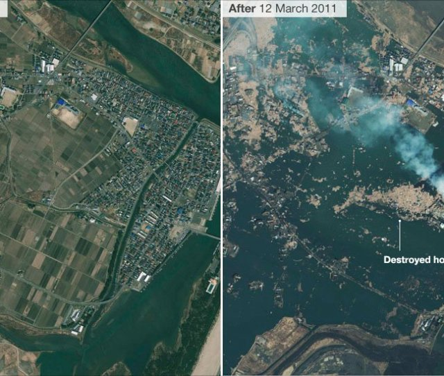 Satellite Image Showing Damage To The City Of Natori In Northern Japan