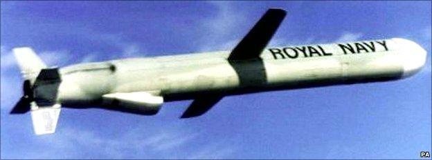 Undated file photo of a British cruise missile
