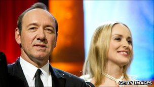 Kevin Spacey and Sharon Stone